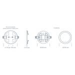 Светодиодный светильник ULTRA LED SP 2 20W 3000K регулируемый