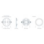 Светодиодный светильник ULTRA LED SP 24W 3000K регулируемый